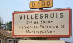 Panneau entrée Villegruis